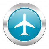 plane internet blue icon