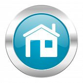 house internet blue icon