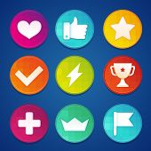 picture of prize  - Vector gamification badges and coins  - JPG