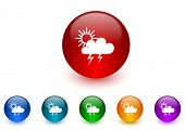 storm internet icons colorful set