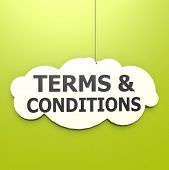 Terms And Conditions Word In Green Background