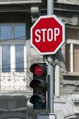 Red Traffic Light.