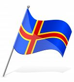 Flag Of Aland Vector Illustration