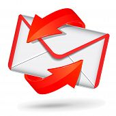 Red And White Mail Icon