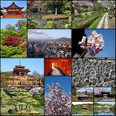 picture of inari  - Photo collage from Kyoto - JPG