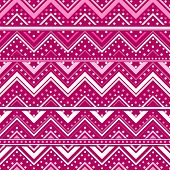 Pink Background With Zig Zag Lines And Dots