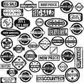 Rubber Stamps With Sale Messages