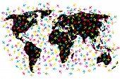 World Map Airline Flights