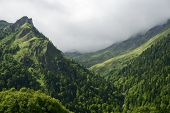 Mountains in Ossau Valley, Pyrenees, France.