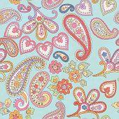 Hand Drawn Decorative Seamless Pattern With Paisley