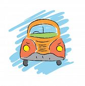 picture of beetle car  - cartoon beetle car - JPG