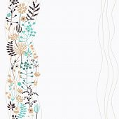 Vertical Seamless Floral Background