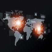 Concept Communication Black Background