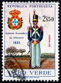 Postage Stamp Cape Verde 1965 Grenadier, 1833