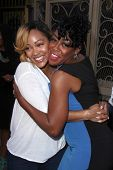 LOS ANGELES - AUG 2:  Meagan Good, Tichina Arnold at the Staying Power: Building Legacy & Longevity