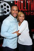 LOS ANGELES - AUG 2:  DeVon Franklin, Meagan Good at the Staying Power: Building Legacy & Longevity in Hollywood at Montalban Theater on September 2, 2014 in Los Angeles, CA