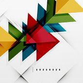 Modern glossy triangles business presentation background layout, web design template, figures for in