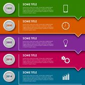 Time Line Info Graphic Striped Template