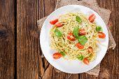 Portion Of Spaghetti With Pesto