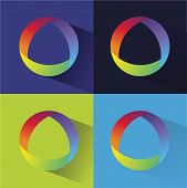 Abstract colored vector logotype for company branding
