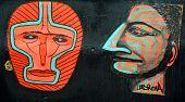 Street art Montreal masks