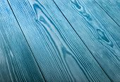 Blue wood texture close up