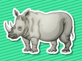 Illustraion of a rhino with background