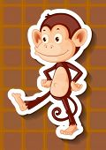 Illustraion of a single monkey standing