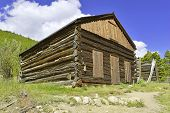 Old cabin in abadoned mining town, western USA