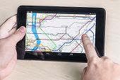 New York Subway Diagram On The Tablet