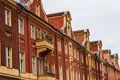 Old brick gable houses in Potsdam, Germany