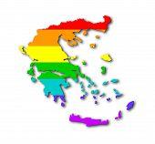 Rainbow Flag Pattern - Greece