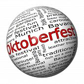 Oktoberfest wordcloud button