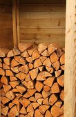 Firewood Log Store.