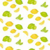 Lemon Lime seamless pattern