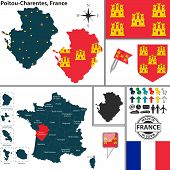 picture of poitiers  - Vector map of state Poitou - JPG