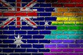 Dark Brick Wall - Lgbt Rights - Australia