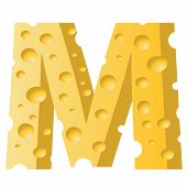 Cheese Letter M