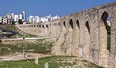 An ancient aqueduct still stands on the outskirts of Larnaca