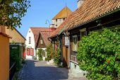 Medieval alley in Visby, Sweden