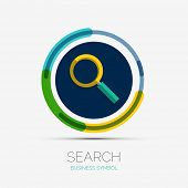 Search icon, company logo, business symbol concept