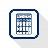 Square Blue Icon Calculator
