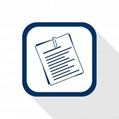 Square Blue Icon Document