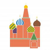 Saint Basil Cathedral In Red Square