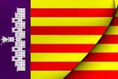 Flag Of Majorca, Spain.