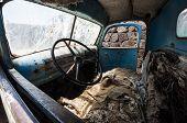 Inside Old Turck In Uyuni.