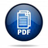 pdf internet blue icon