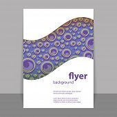 Flyer or Cover Design with Blue Dotted Abstract Pattern