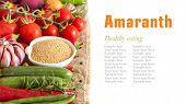 Raw Organic Amaranth And Vegetables
