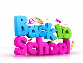 Back to School 3D Rendered